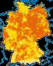 Karte zur Verbreitung der Feldlerche in Deutschland