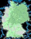 Karte zur Verbreitung des Kolkraben in Deutschland