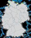 Karte zur Verbreitung der Mantelmöwe (Larus marinus) in Deutschland