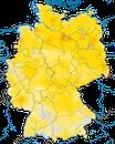 Karte zur Verbreitung des Baumpiepers in Deutschland
