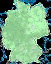 Karte zur Verbreitung des Sperber (Accipiter nisus) in Deutschland.