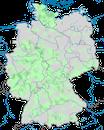 Karte zur Verbreitung des Uhus in Deutschland