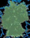 Karte zur Verbreitung des Grünfinks in Deutschland