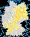 Karte zur Verbreitung des Wendehals in Deutschland