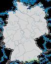 Karte zur Verbreitung der Alpendohle in Deutschland