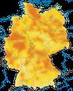 Karte zur Verbreitung des Fitis in Deutschland
