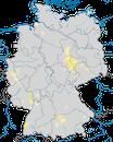 Karte zur Verbreitung des Bienenfressers in Deutschland