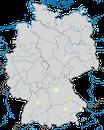 Karte zur Verbreitung des  Nachtreihers (Nycticorax nycticorax) in Deutschland
