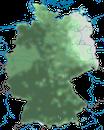 Karte zur Verbreitung der Rabenkrähe in Deutschland