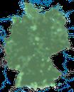 Karte zur Verbreitung der Goldammer in Deutschland