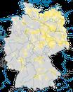 Karte zur Verbreitung der Beutelmeise in Deutschland