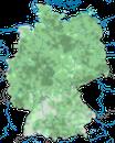Karte zur Verbreitung der Weidenmeise in Deutschland