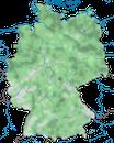 Karte zur Verbreitung des Blässhuhns (Fulica atra) in Deutschland