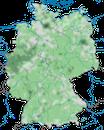 Karte zur Verbreitung der Straßentaube (Columba livia domestica) in Deutschland
