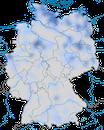 Karte zur Verbreitung des Zwergsägers (Mergellus albellus) in Deutschland