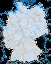 Karte zur Verbreitung der Schneeammer in Deutschland