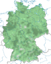 Karte zur Verbreitung der Türkentaube (Streptopelia decaocto) in Deutschland
