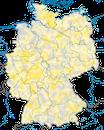 Karte zur Verbreitung des Wespenbussards (Pernis apivorus) in Deutschland