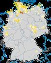 Karte zur Verbreitung der Sturmmöwe (Larus canus) in Deutschland