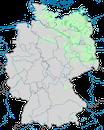 Karte zur Verbreitung des Seeadlers (Haliaeetus albicilla) in Deutschland