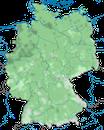 Karte zur Verbreitung des Teichhuhns (Gallinula chloropus) in Deutschland
