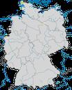 Karte zur Verbreitung des Stelzenläufers (Himantopus himantopus) in Deutschland
