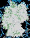 Karte zur Verbreitung der Saatkrähe in Deutschland
