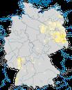Karte zur Verbreitung des Wiedehopfs in Deutschland