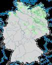 Karte zur Verbreitung der Bartmeise in Deutschland