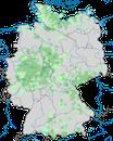 Karte zur Verbreitung des Alpenbirkenzeisigs in Deutschland