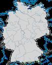 Karte zur Verbreitung des Gartenrotschwanzes in Deutschland