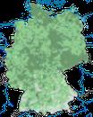Karte zur Verbreitung des Bluthänflings in Deutschland