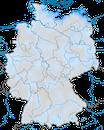 Karte zur Verbreitung der Bergente in Deutschland