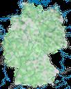 Karte zur Verbreitung des Graureihers (Ardea cinerea) in Deutschland