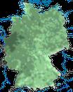 Karte zur Verbreitung des Gartenbaumläufers in Deutschland