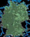 Karte zur Verbreitung des Zaunkönigs in Deutschland