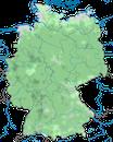 Karte zur Verbreitung des Grünspechts in Deutschland