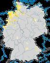 Karte zur Verbreitung der Uferschnepfe (Limosa limosa) in Deutschland