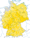 Karte zur Verbreitung des Girlitzes in Deutschland