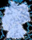 Karte zur Verbreitung des  Basstölpels (Morus bassanus) in Deutschland