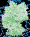 Karte zur Verbreitung des Fichtenkreuzschnabels in Deutschland
