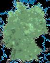 Karte zur Verbreitung des Eichelhähers in Deutschland