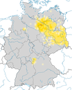 Karte zur Verbreitung des Ortolans in Deutschland
