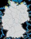 Karte zur Verbreitung der Zwergseeschwalbe (Sternula albifrons) in Deutschland