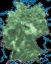 Karte zur Verbreitung der Tannenmeise in Deutschland