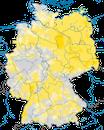 Karte zur Verbreitung des Pirols in Deutschland