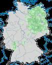 Karte zur Verbreitung der Haubenlerche in Deutschland