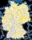 Karte zur Verbreitung des Flussregenpfeifers (Charadrius dubius) in Deutschland