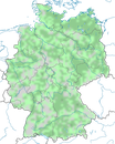 Karte zur Verbreitung des Zwergtauchers (Tachybaptus ruficollis) in Deutschland