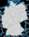 Karte zur Verbreitung der Ohrenlerche in Deutschland